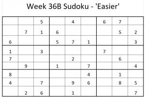 Week 36B Sudoku
