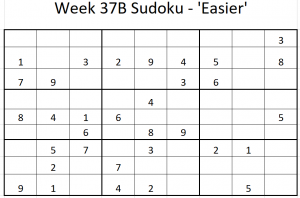 Week 37B Sudoku Solution
