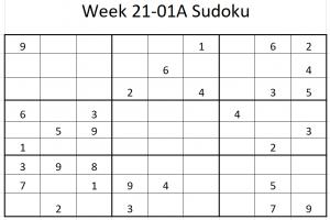 Week 21-01A Sudoku