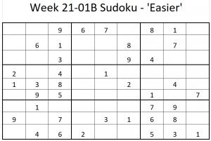Week 21-01B Sudoku