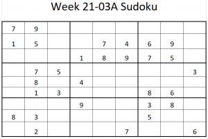 Week 21-03A Sudoku