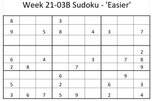 Week 21-03B Sudoku
