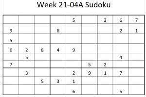 Week 21-04A Sudoku