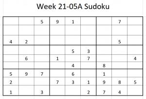 Week 21-05A Sudoku