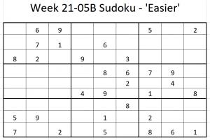 Week 21-05B Sudoku
