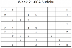 Week 21-06A Sudoku