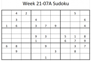 Week 21-07A Sudoku