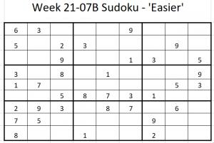 Week 21-07B Sudoku