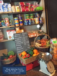 Fruit and veg - local produce when available