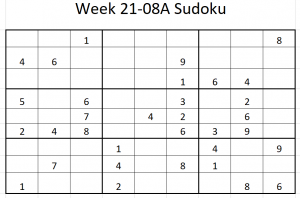 Week 21-08A Sudoku