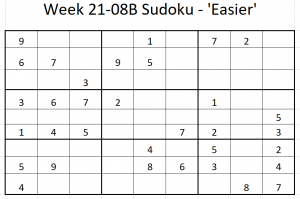 Week 21-08B Sudoku