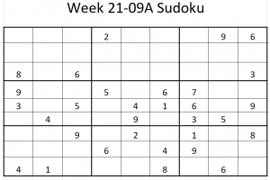 Week 21-09A Sudoku