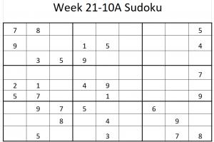 Week 21-10A Sudoku