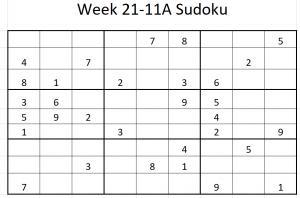 Week 21-11A Sudoku