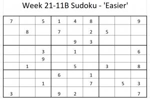 Week 21-11B Sudoku