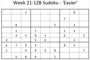 Week 21-12B Sudoku