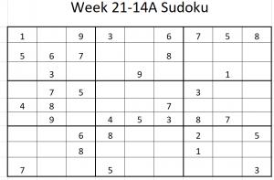 Week 21-14A Sudoku