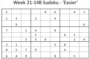 Week 21-14B Sudoku