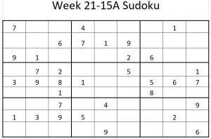 Week 21-15A Sudoku