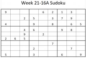 Week 21-16A Sudoku