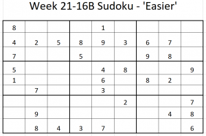 Week 21-16B Sudoku