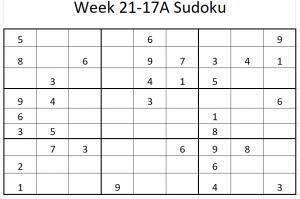 Week 21-17A Sudoku