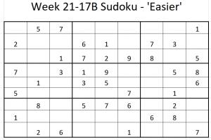 Week 21-17B Sudoku