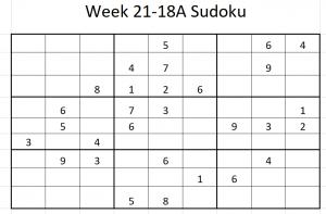 Week 21-18A Sudoku