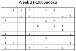 Week 21-19A Sudoku